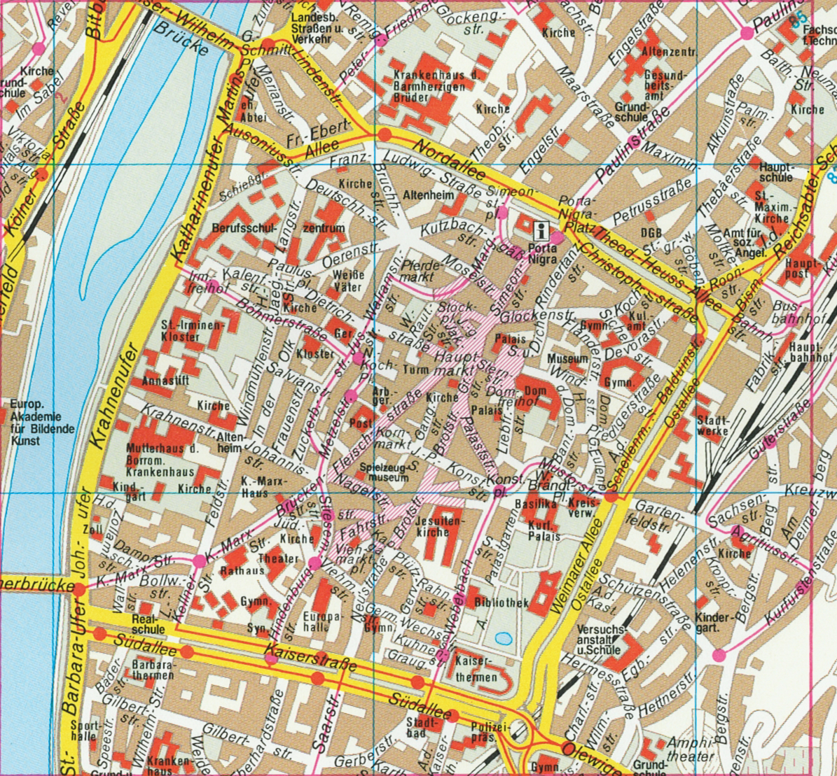 frankfurt city center map – Munich City Map Tourist